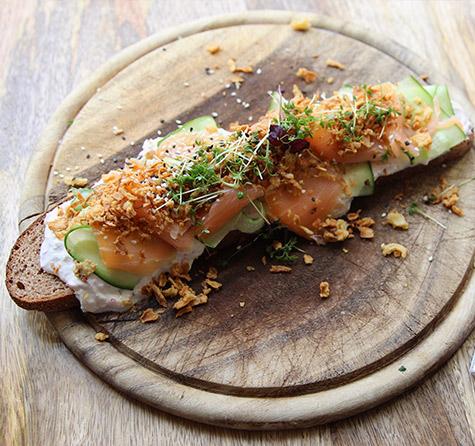 Crunchy Smokey Salmon